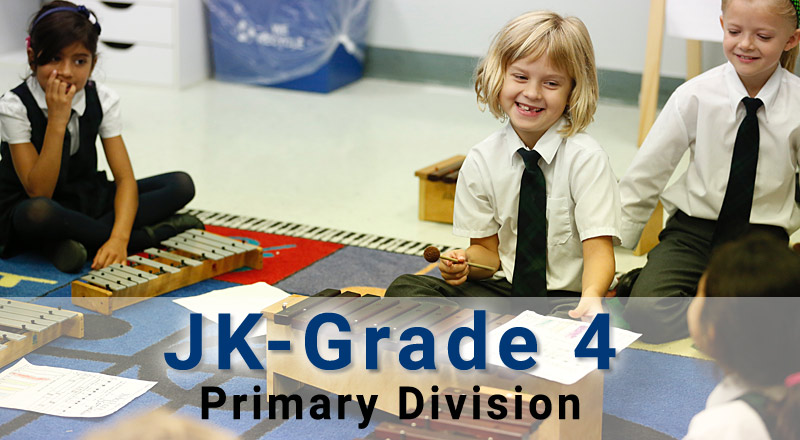 Primary Division, Junior Kindergarten to Grade 4